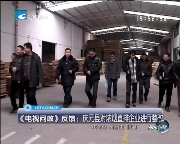 《电视问政》反馈:庆元县对浓烟直排企业进行整改