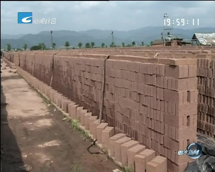 《每周聚焦》反馈:松阳责令违建墙砖厂停止砖胚生产
