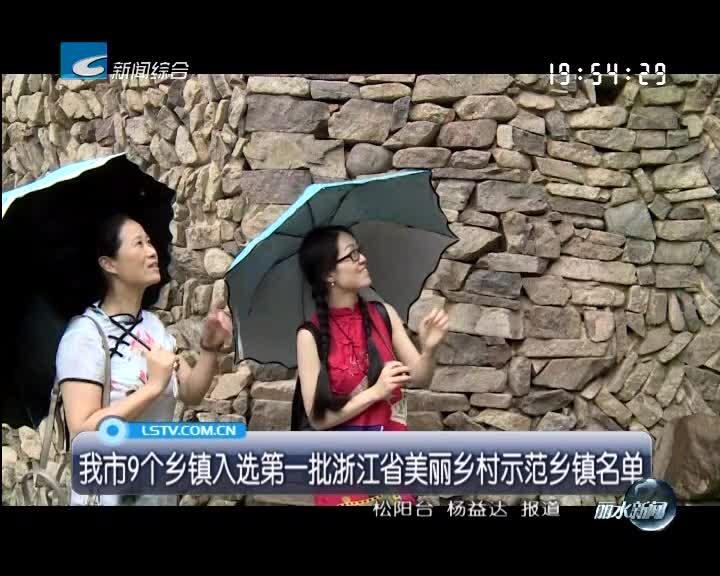 我市9个乡镇入选第一批浙江省美丽乡村示范乡镇名单