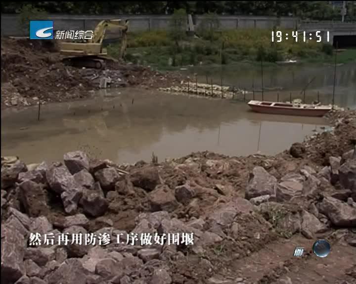 海潮河挡水闸工程预计6月底完成水下混凝土部分