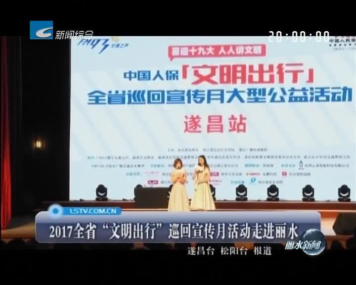 """2017全省""""文明出行""""巡回宣传月活动走进丽水"""