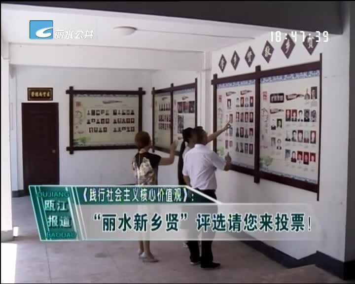"""""""丽水新乡贤""""评选请您来投票!"""