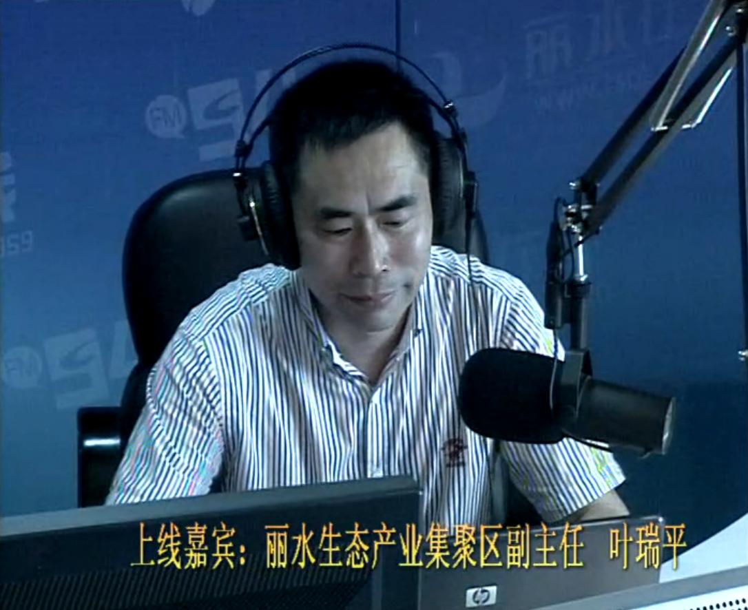 丽水生态产业集聚区副主任 叶瑞平