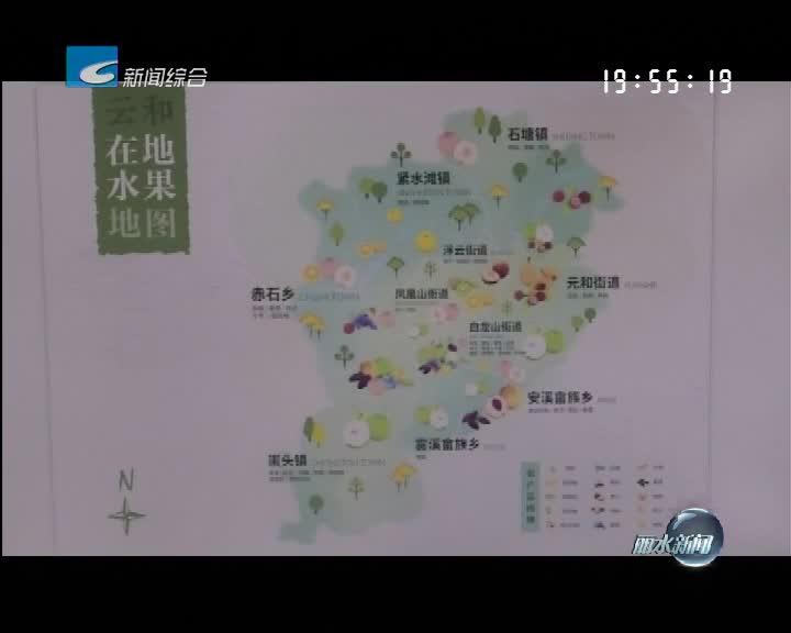 """简讯:云和发布全市首张""""水果地图"""""""