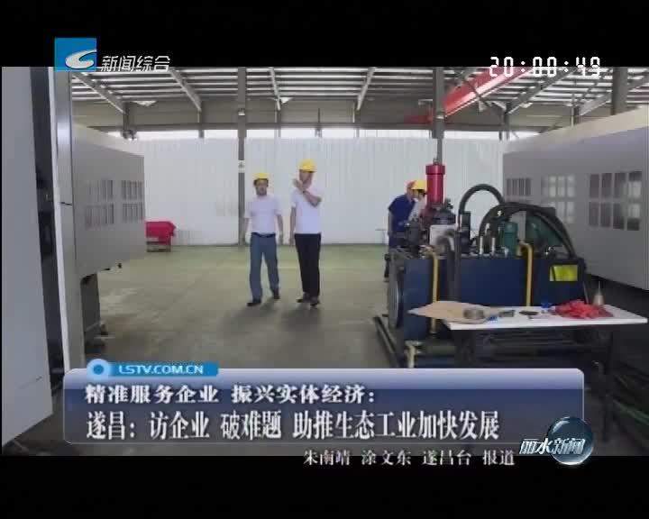 遂昌:访企业 破难题 助推生态工业加快发展