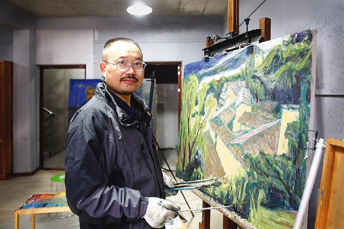 李跃亮个人画展在古堰画乡巴比松油画馆举行