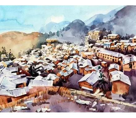 走了100多座古村落 她将松阳绘成了童话