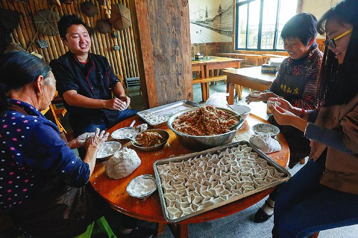 青田绿湾山庄:吃正宗青田土菜,感受乡野趣味