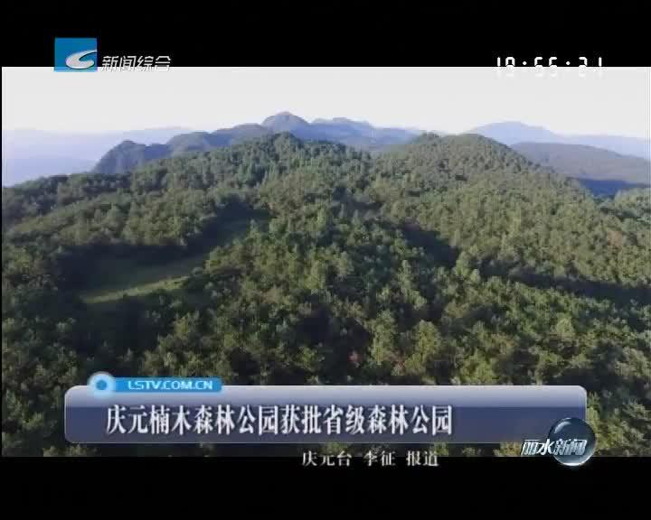 庆元楠木森林公园获批省级森林公园