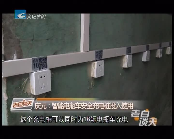 庆元:智能电瓶车安全充电桩投入使用