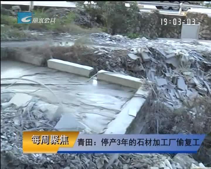【每周聚焦】青田:停产3年的石材加工厂偷复工