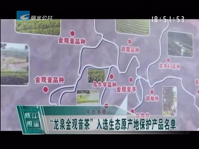 """""""龙泉金观音茶""""入选生态原产地保护产品名单"""