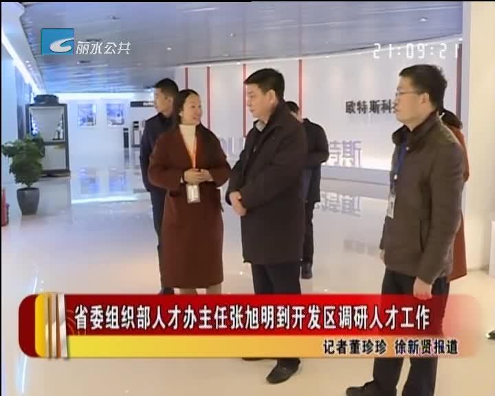 省委组织部人才办主任张旭明到开发区调研人才工作