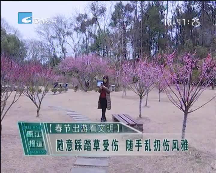 [春节出游看文明]随意踩踏草受伤 随手乱扔伤风雅