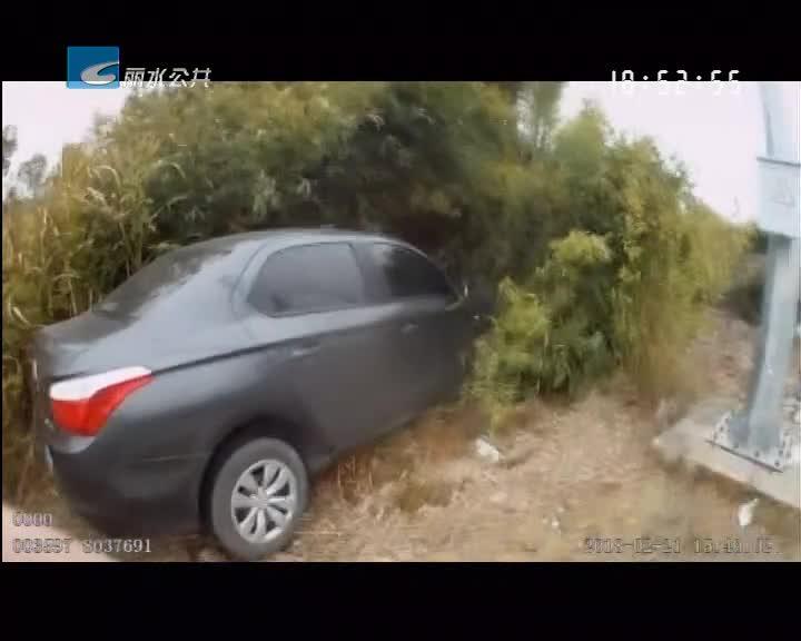 驾驶员油门当刹车 一头扎进绿化带