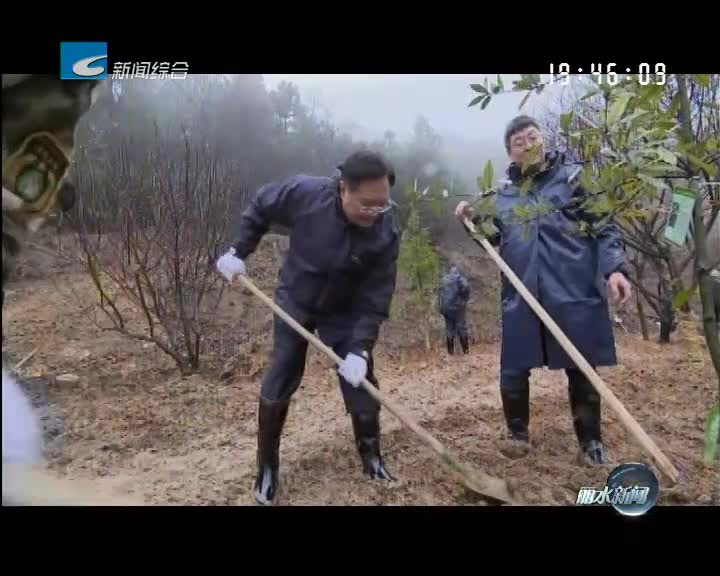 节后上班首日市党政军领导参加义务植树活动