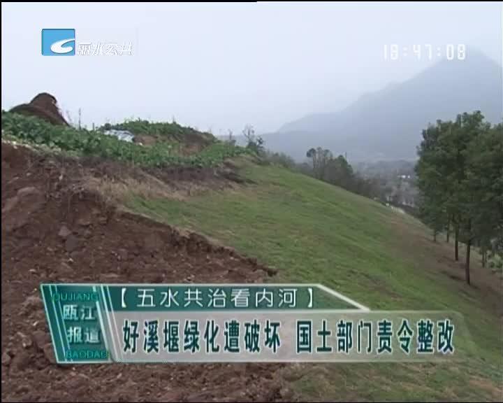 【五水共治看内河】好溪堰绿化遭破坏 国土部门责令整改