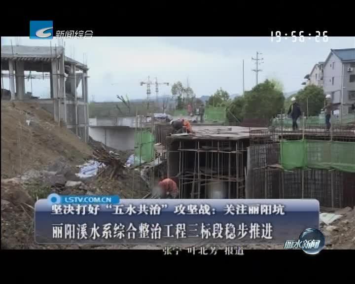 关注丽阳坑:丽阳溪水系综合整治工程三标段稳步推进