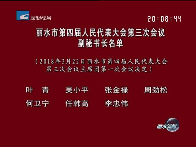 丽水市第四届人民代表大会第三次会议副秘书长名单
