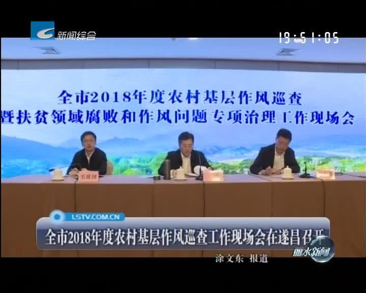 全市2018年度农村基层作风巡查工作现场会在遂昌召开