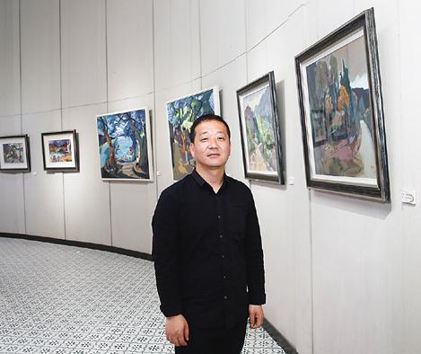 起点·陶华峰作品展在古堰画乡巴比松油画馆举行