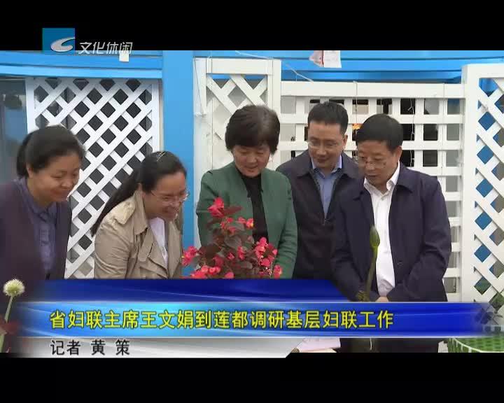 省妇联主席王文娟到莲都调研基层妇联工作