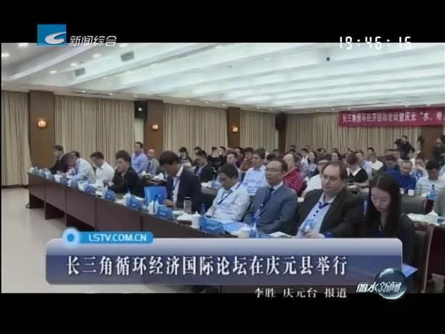 长三角循环经济国际论坛在庆元县举行