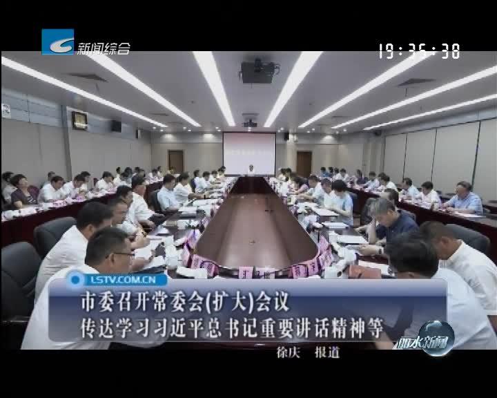 市委召开常委会(扩大)会议 传达学习习近平总书记重要讲话精神等