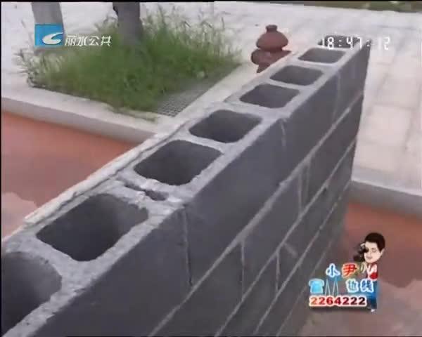 小尹热线:莲都路湾村 水沟里的水会变色
