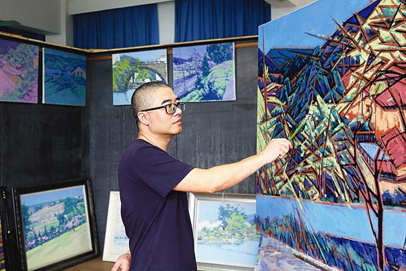 桃源记·吕晓南作品展在古堰画乡巴比松油画馆举行