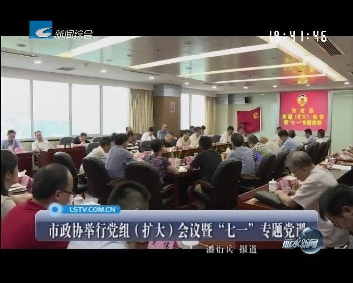 """市政协举行党组(扩大)会议暨""""七一""""专题党课"""