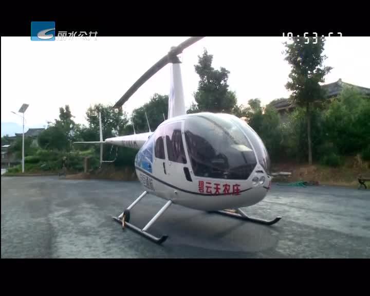 乘着直升机看风景 低空游项目落户松阳