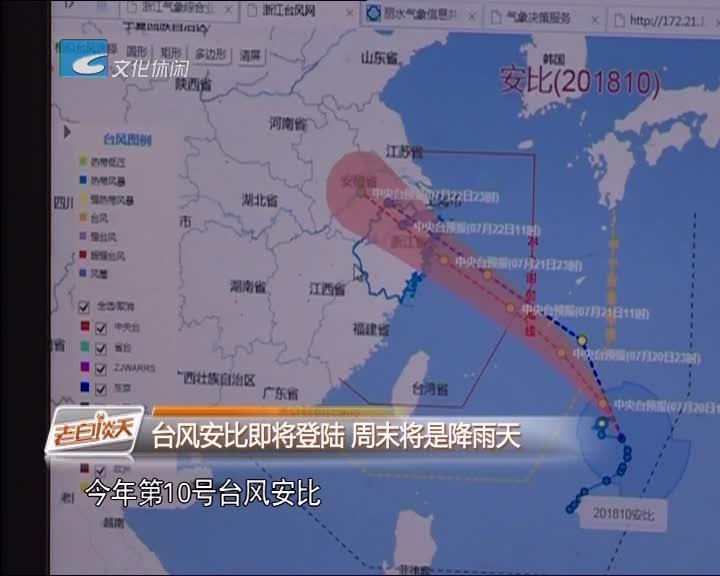 台风安比即将登陆 周末将是降雨天