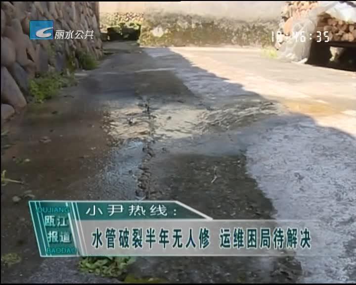 小尹热线:水管破裂半年无人修 运维困局待解决