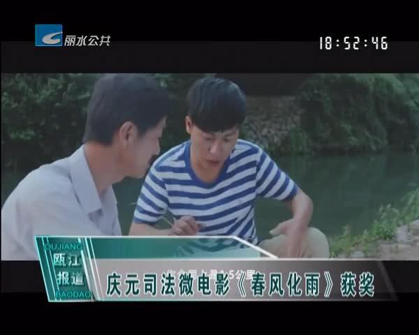 庆元司法微电影《春风化雨》获奖