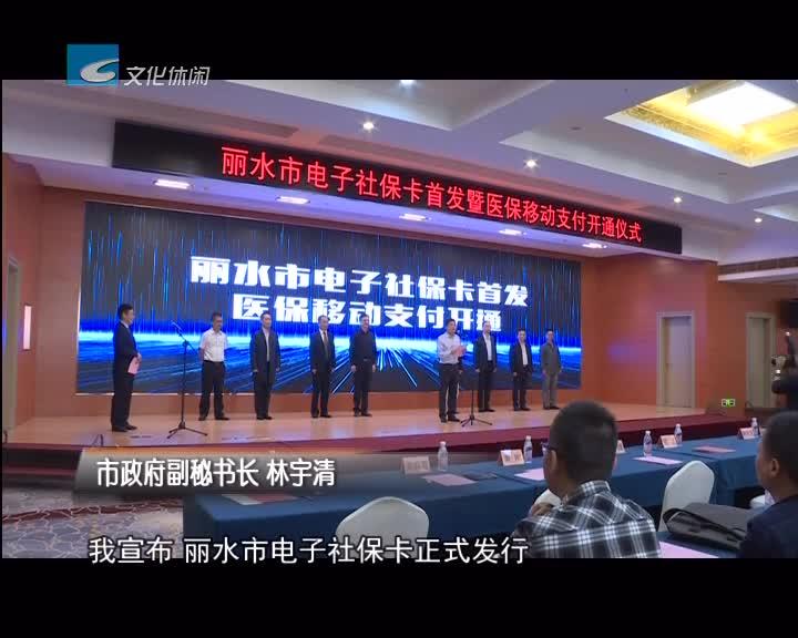 丽水全省首发电子社保卡