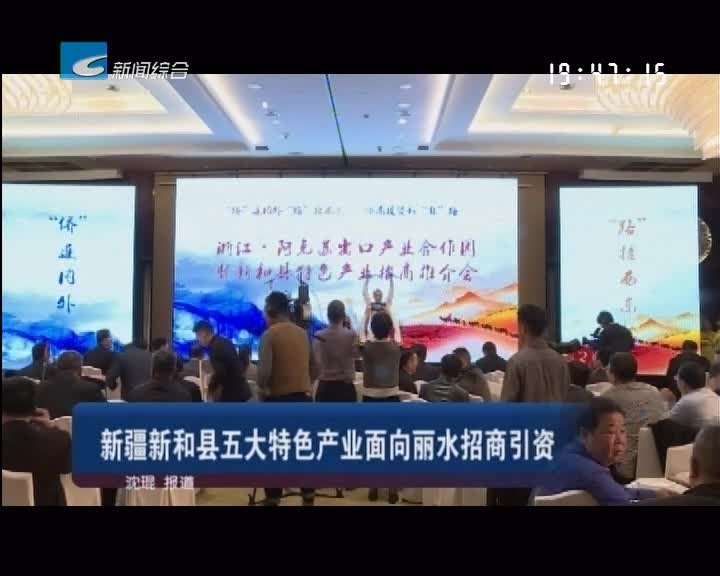 新疆新和县五大特色产业面向丽水招商引资