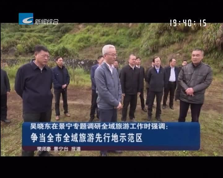 吴晓东在景宁专题调研全域旅游工作时强调 争当全市全域旅游先行地示范区