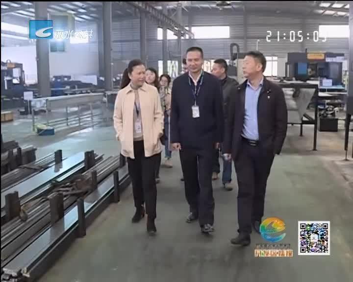 丁绍雄调研开发区规划展示馆和部分在建工业项目