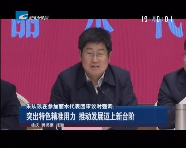 朱从玖在参加丽水代表团审议时强调:突出特色精准用力 推动发展迈上新台阶