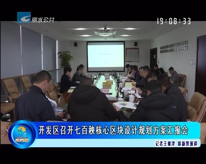 开发区召开七百秧核心区块设计规划方案汇报会