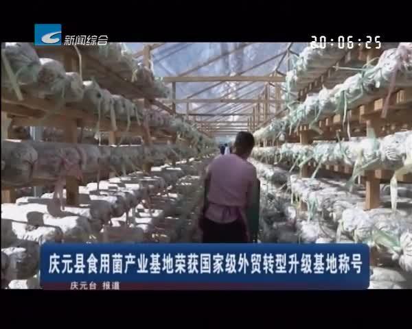 庆元县食用菌产业基地荣获国家级外贸转型升级基地称号