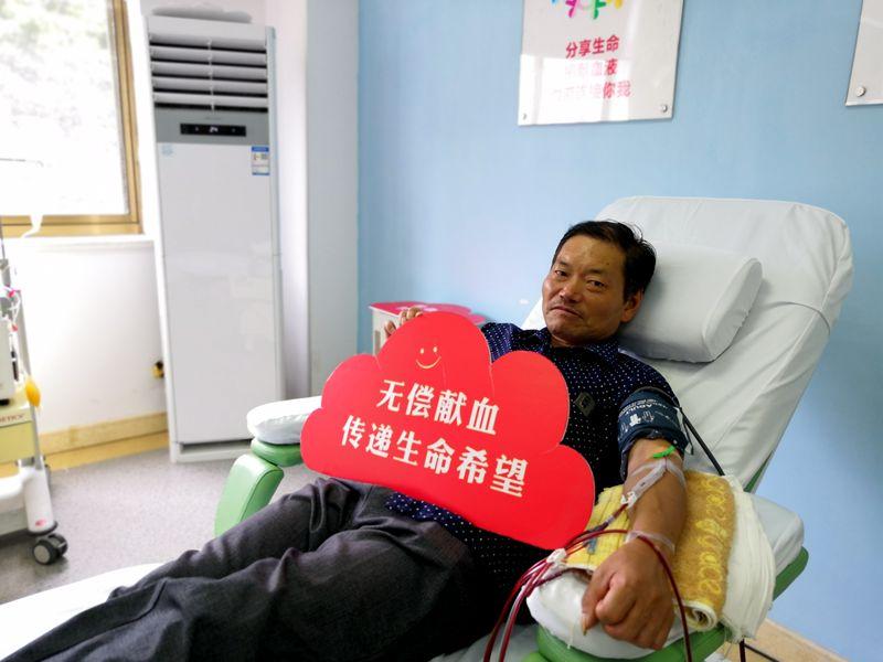 献血15年 初心依旧 ——记丽水市献血次数最多的献血者朱志平