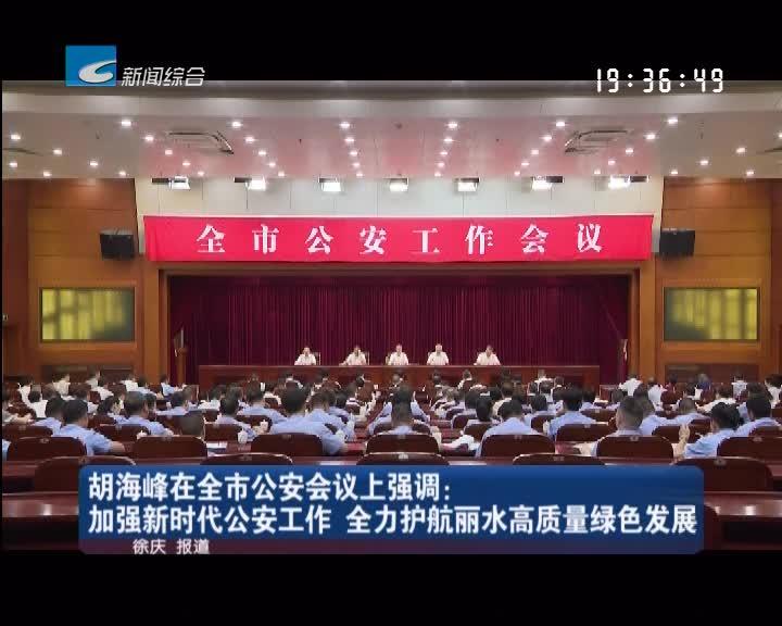 胡海峰在全市公安会议上强调:加强新时代公安工作 全力护航丽水高质量绿色发展
