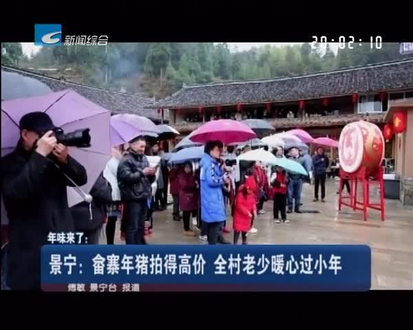 年味来了:景宁:畲寨年猪拍得高价 全村老少暖心过小年
