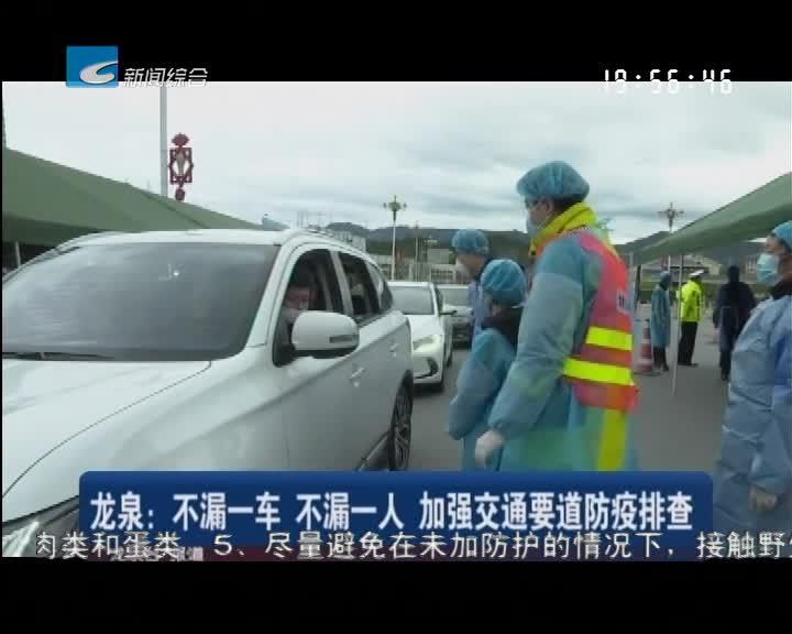 龙泉:不漏一车 不漏一人 加强交通要道防疫排查