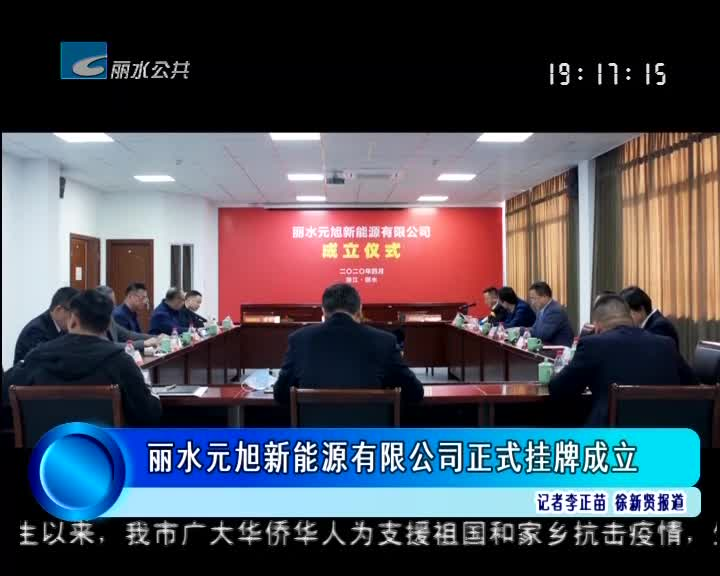 丽水元旭新能源有限公司正式挂牌成立