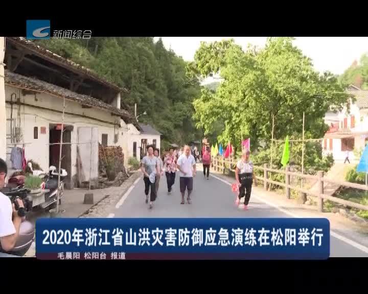 2020年浙江省山洪灾害防御应急演练在松阳举行